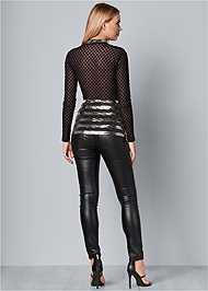 Back View Sequin Detail Mesh Top