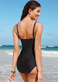 Back view Graphic Print One-Piece