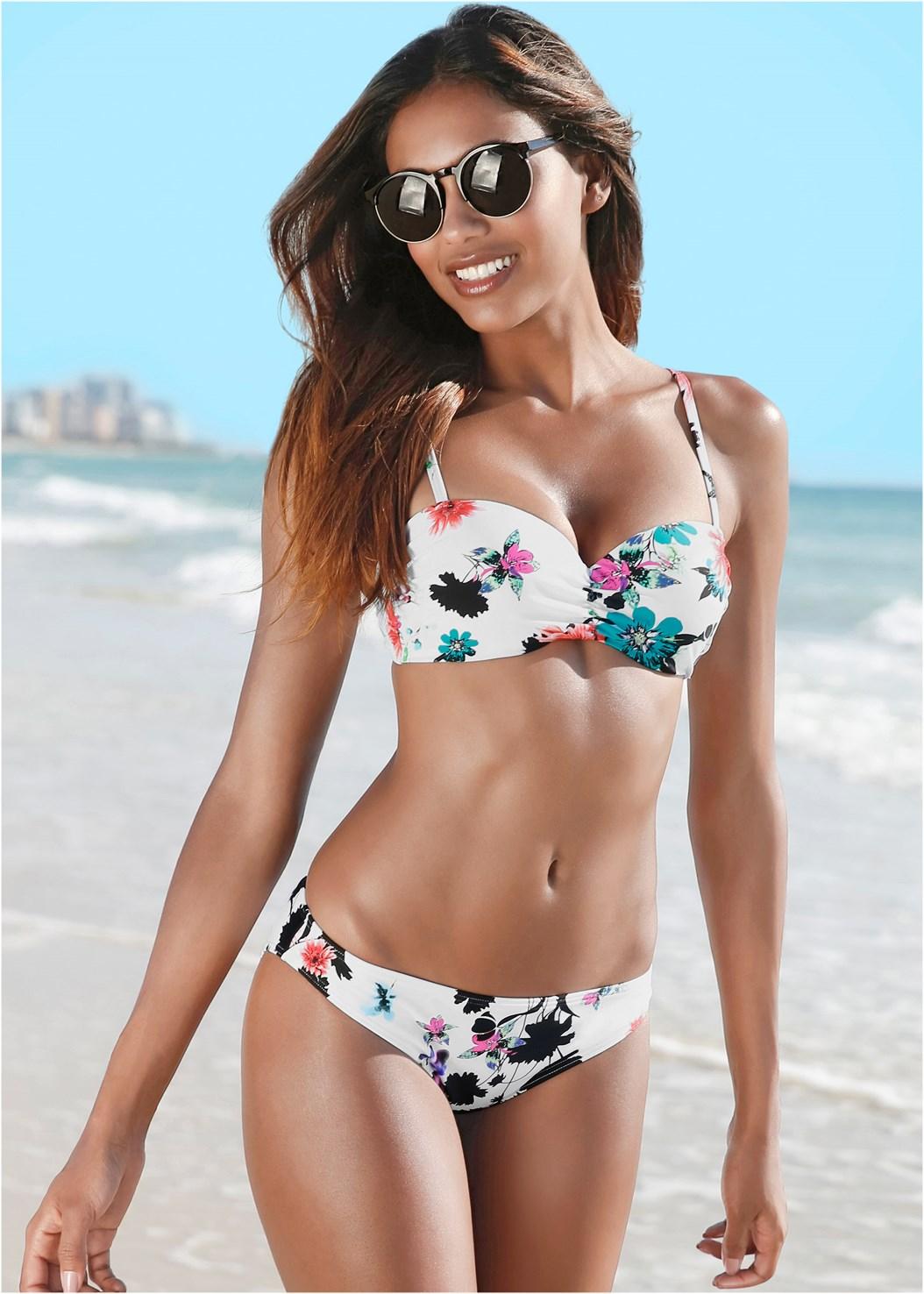 Low Rise Bikini Bottom,Sweetheart Bikini Bra Top,Triangle String Bikini Top