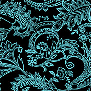 Mint & Black Paisley (MPB)