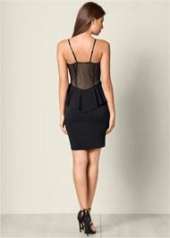 Back View Applique Detail Dress