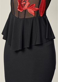 Alternate View Applique Detail Dress