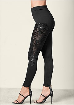 applique detail leggings