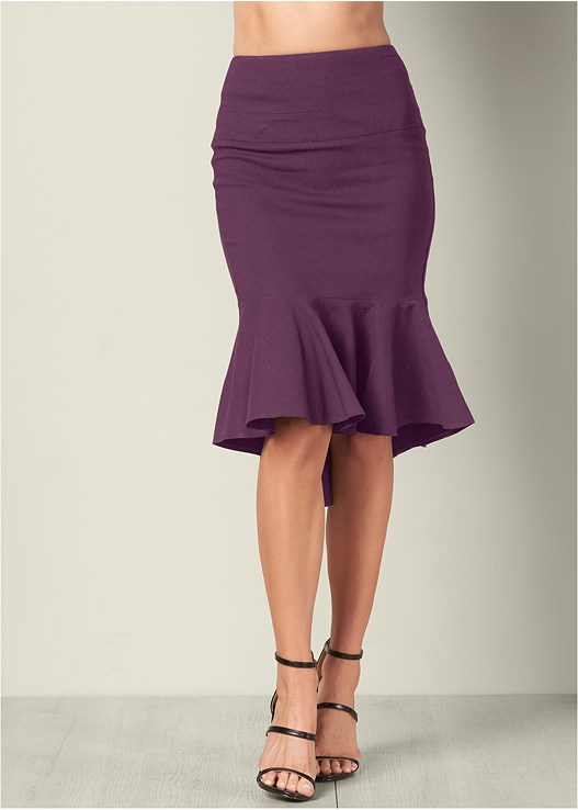SLIMMING HIGH LOW SKIRT