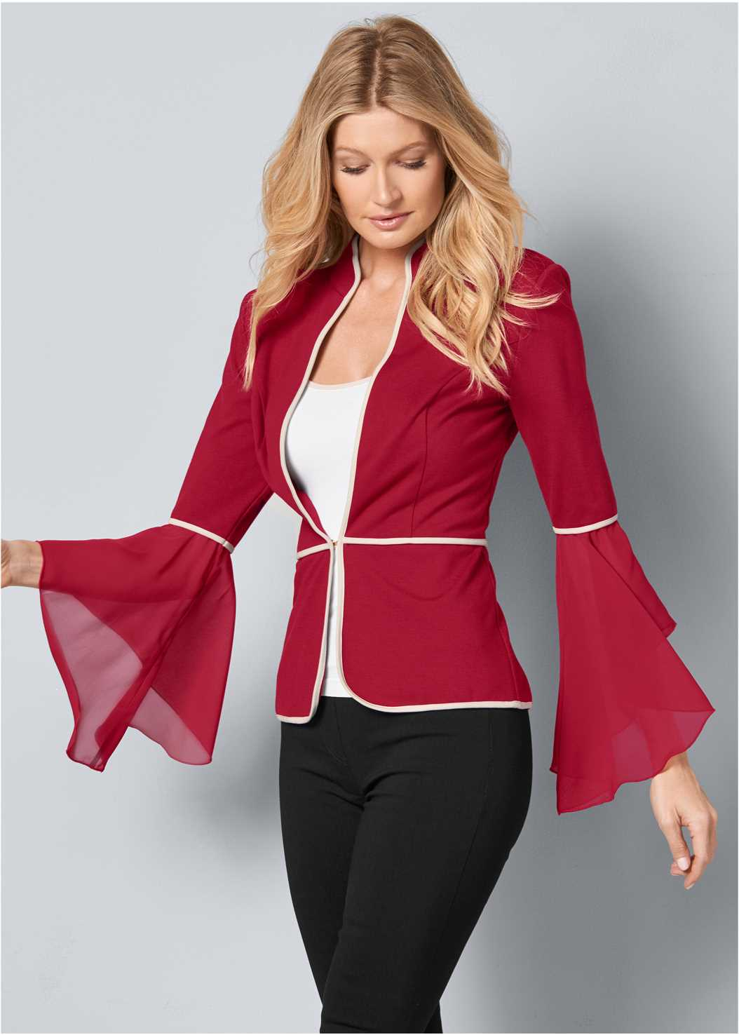 Sleeve Detail Jacket,Basic Cami Two Pack,Mid Rise Slimming Stretch Jeggings,High Heel Strappy Sandals