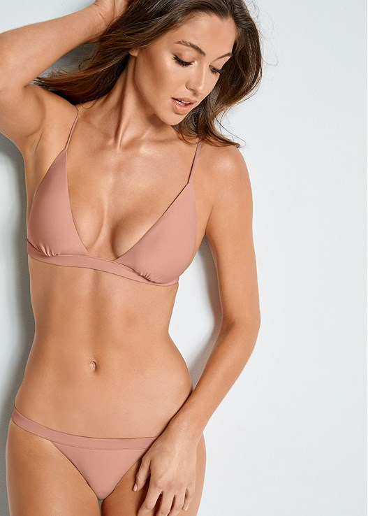 VERSATILITY BY VENUS ™ FIXED TRIANGLE BIKINI TOP,VERSATILITY BY VENUS ™ BANDED BRAZILIAN BOTTOM,VERSATILITY BY VENUS ® REVERSIBLE RETRO BOTTOM