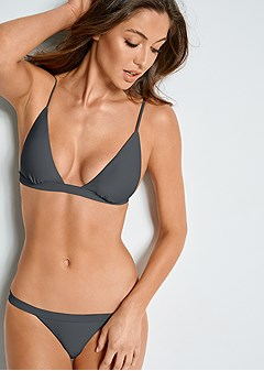 fixed triangle bikini top