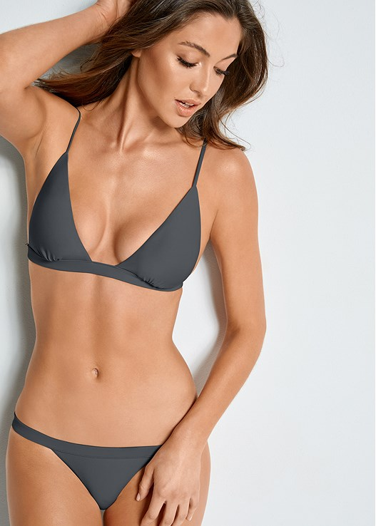 VERSATILITY BY VENUS ™ FIXED TRIANGLE BIKINI TOP,VERSATILITY BY VENUS ™ BANDED BRAZILIAN BOTTOM,VERSATILITY BY VENUS ™ LOW RISE RUCHED BOTTOM,VERSATILITY BY VENUS ® BRAZILIAN BIKINI BOTTOM,VERSATILITY BY VENUS ™ REVERSIBLE RETRO BOTTOM