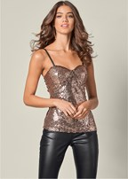 sequin detail top