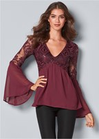 bell sleeve top