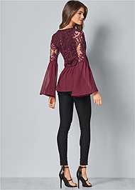 Back View Bell Sleeve Top