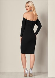 Back View Embellished Strappy Dress