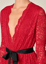 Alternate View High Low Lace Romper