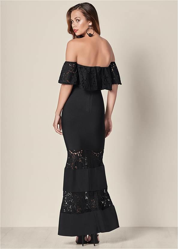 Back View Bandage Lace Detail Dress