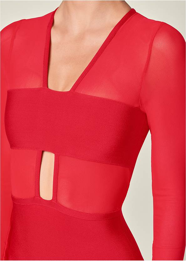 Alternate View Bandage Mesh Detail Dress