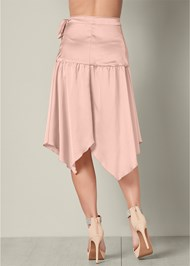 Back View Wrap Midi Skirt