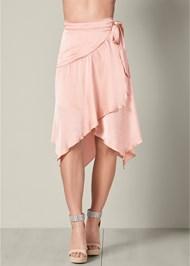 Front View Wrap Midi Skirt