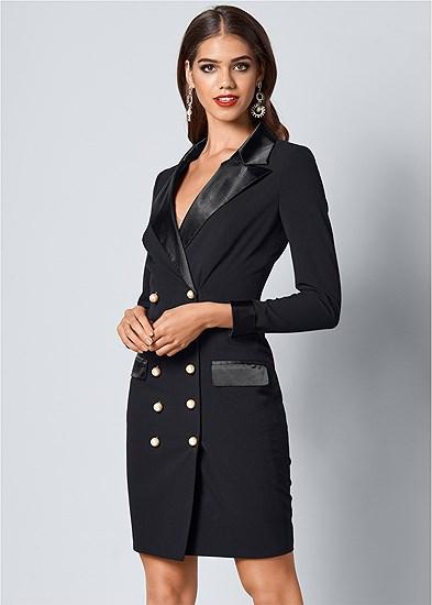 Pearl Button Detail Dress