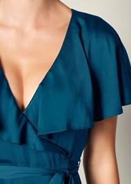 Alternate View Ruffle Detail Wrap Dress