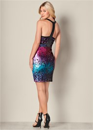 Back View Sequin Detail Dress