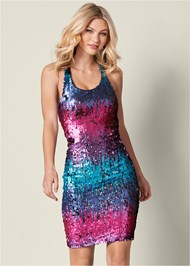 Front View Sequin Detail Dress