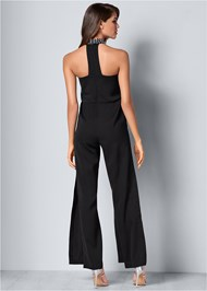 Back View Embellished Detail Jumpsuit