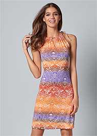 Front view Printed Casual Dress