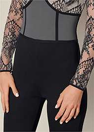 Alternate View Lace Detail Jumpsuit