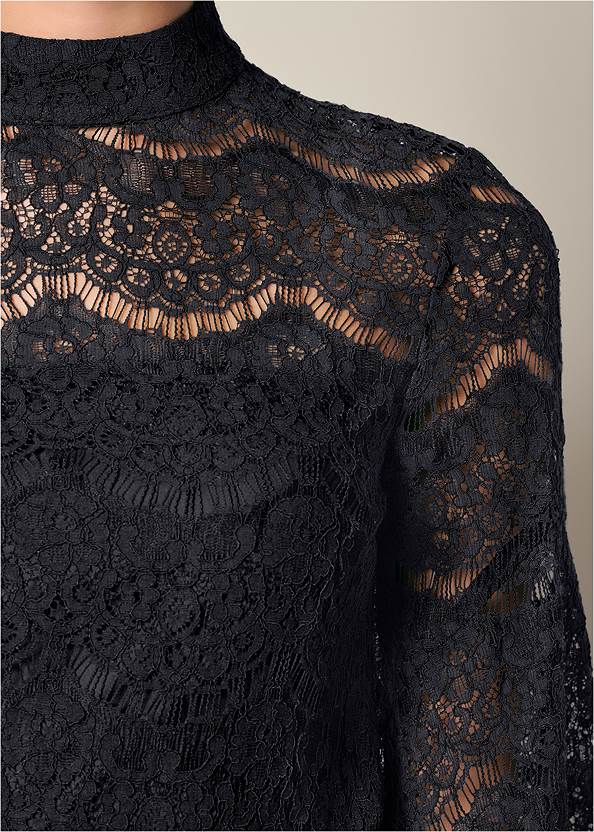 Alternate View Lace Bell Sleeve Top