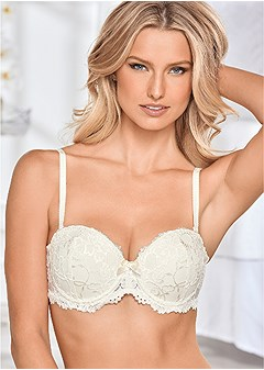 all over lace push up bra