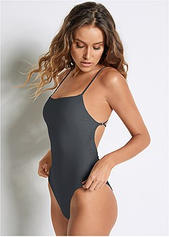 bb1e1de3eae Marble Onyx Charcoal REVERSIBLE ONE-PIECE from VENUS