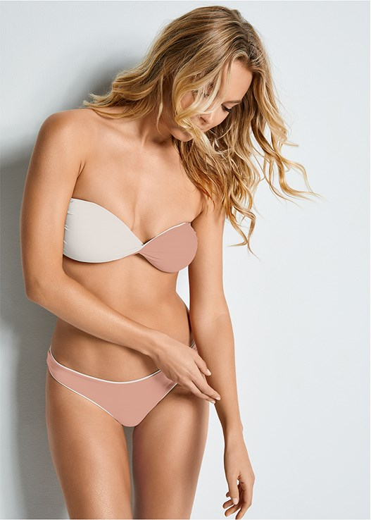 VERSATILITY BY VENUS™  REVERSIBLE BANDEAU TOP,VERSATILITY BY VENUS ™ REVERSIBLE HIGH LEG BOTTOM,VERSATILITY BY VENUS ™ REVERSIBLE RETRO BOTTOM,VERSATILITY BY VENUS ™ LOW RISE RUCHED BOTTOM,VERSATILITY BY VENUS ™ BANDED BRAZILIAN BOTTOM