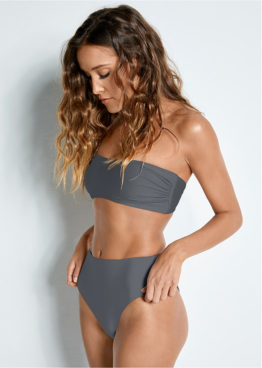 REVERSIBLE BANDEAU TOP,REVERSIBLE RETRO BOTTOM
