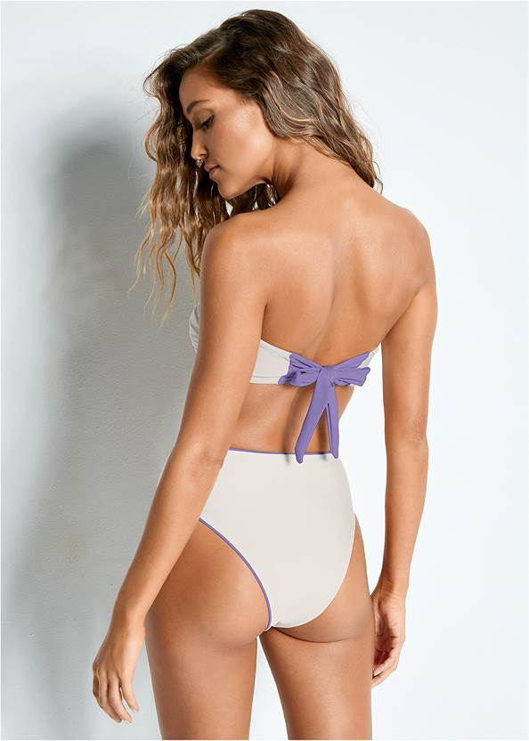 Back view Versatility By Venus™  Reversible Bandeau Top
