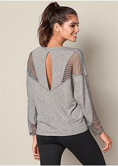 mesh inset sweatshirt