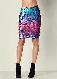 Front View Sequin Skirt