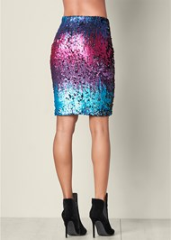 Back View Sequin Skirt