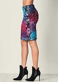 Alternate View Sequin Skirt