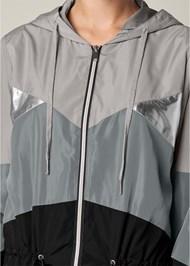 Alternate View Metallic Detail Rain Jacket