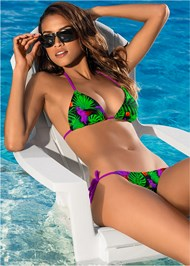 Front View Triangle String Bikini Top