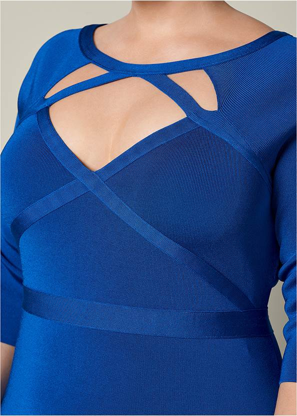 Alternate View Bandage Cut Out Dress