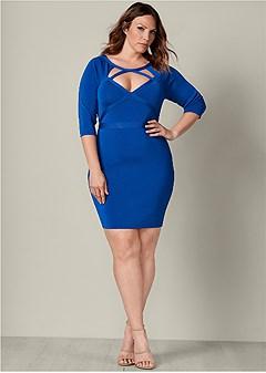 1a16a8c0e5b plus size slimming cut out dress