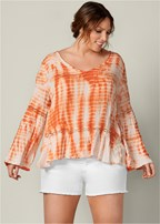 plus size strappy back tie dye top