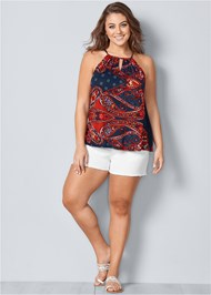 Front view Paisley Printed Tank