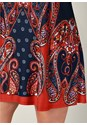 Alternate view Sleeveless Paisley Print Mini Shift Dress