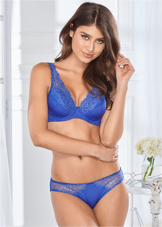 d0e289c875b8 Royal Blue MICRO LUREX BIKINI PANTIES | VENUS