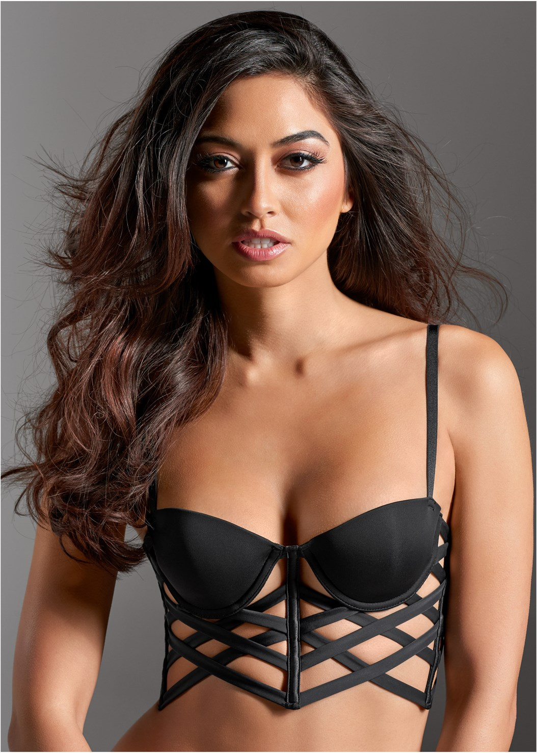 Cage Balconette Bra,Bum Lifter Jeans,High Heel Strappy Sandals