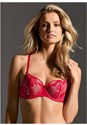 Front View Strappy Fishnet Contour Bra