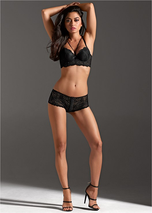 FRONT OPEN LACE HIPSTERS,KISSABLE STRAPPY LACE BRA,HIGH HEEL STRAPPY SANDALS