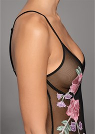 Alternate View Embroidered Sheer Bodysuit
